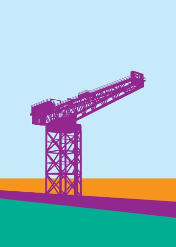 Glasgow Finnieston Crane Greeting Card
