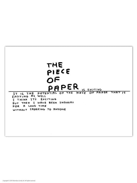 David Shrigley Piece Of Paper Postcard