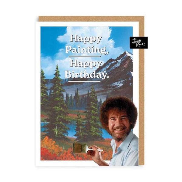 Mountain Happy Painting Bob Ross Birthday Card | Penny Black