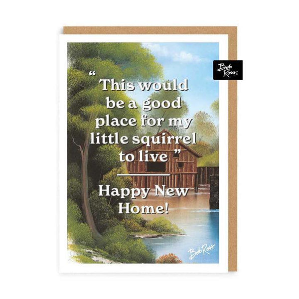 Little Squirrel Bob Ross New Home Card | Penny Black