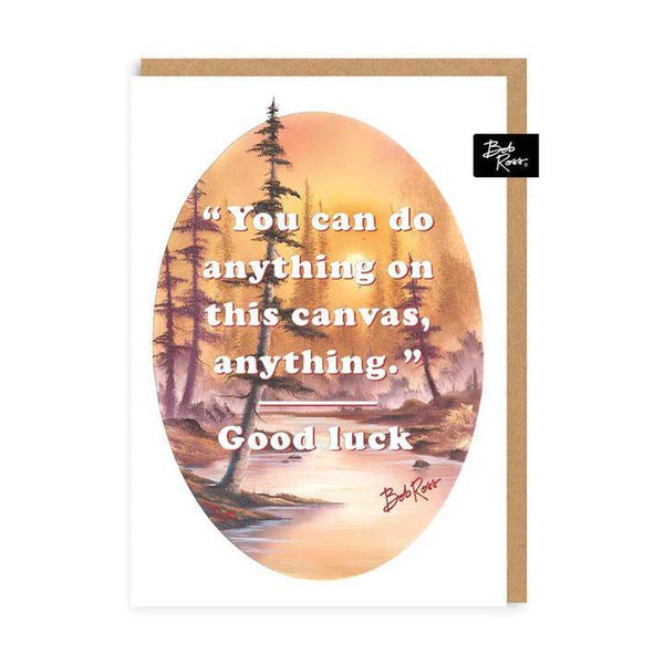 You Can Do Anything Bob Ross Good Luck Card | Penny Black