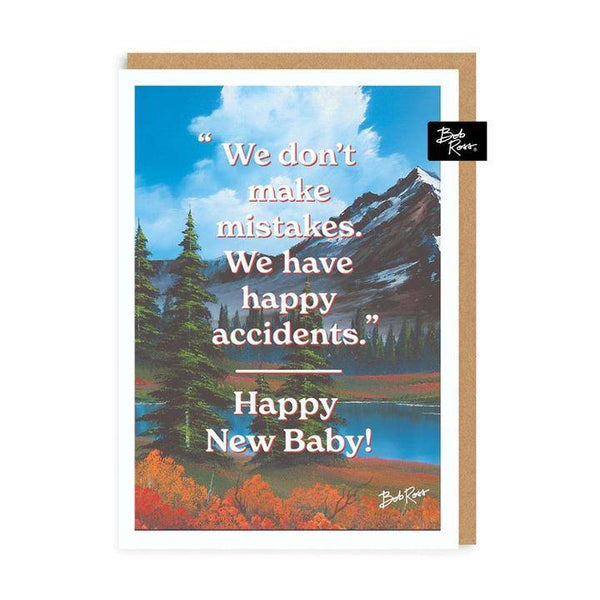 Happy Accidents Bob Ross New Baby Card | Penny Black