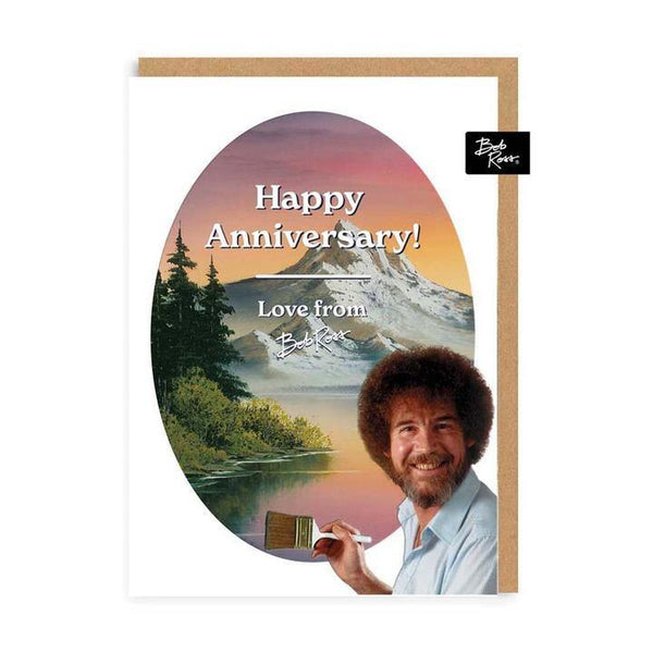 Happy Anniversary Love From Bob Ross Card | Penny Black