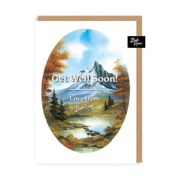 Get Well Soon Love From Bob Ross Card | Penny Black