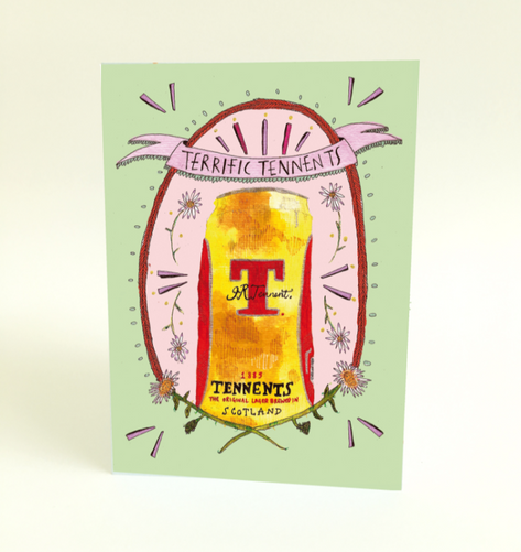 Terrific Tennents Greeting Card