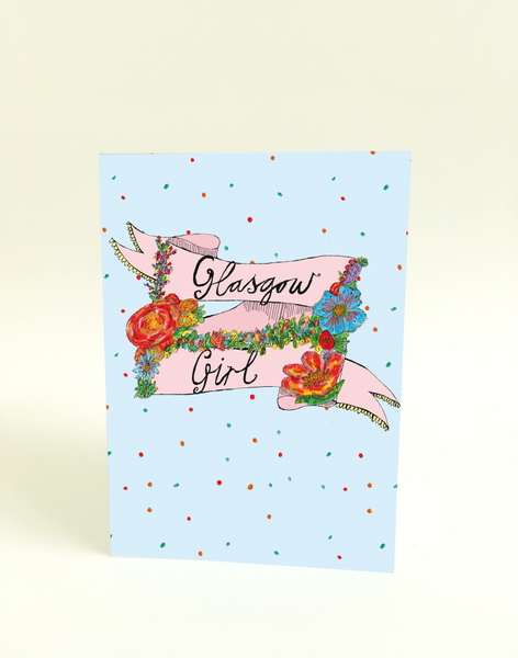 Glasgow Girl Banner Greeting Card