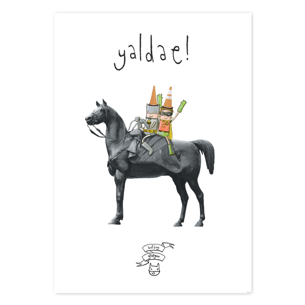 Yaldae Glasgow Greeting Card