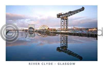 River Clyde Postcard Greeting Card
