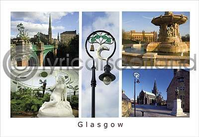 Glasgow Victoriana Postcard Greeting Card