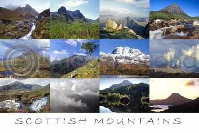 Scottish Mountains Postcard Greeting Card
