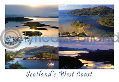 ScotlanWest Coast Postcard Greeting Card