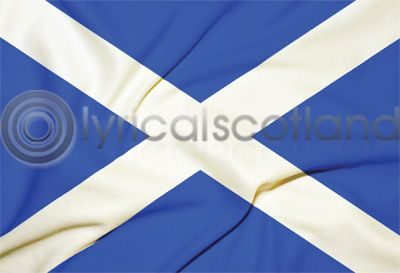Saltire Flag Postcard Greeting Card