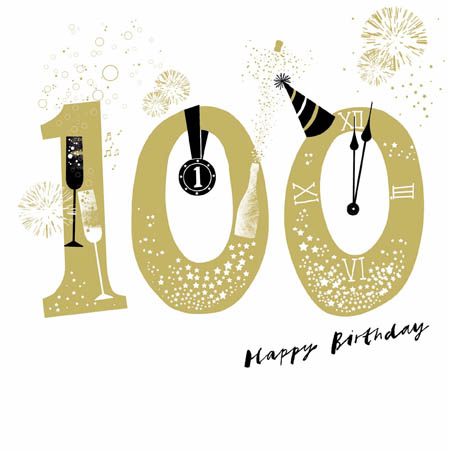 100 Happy Birthday Greeting Card