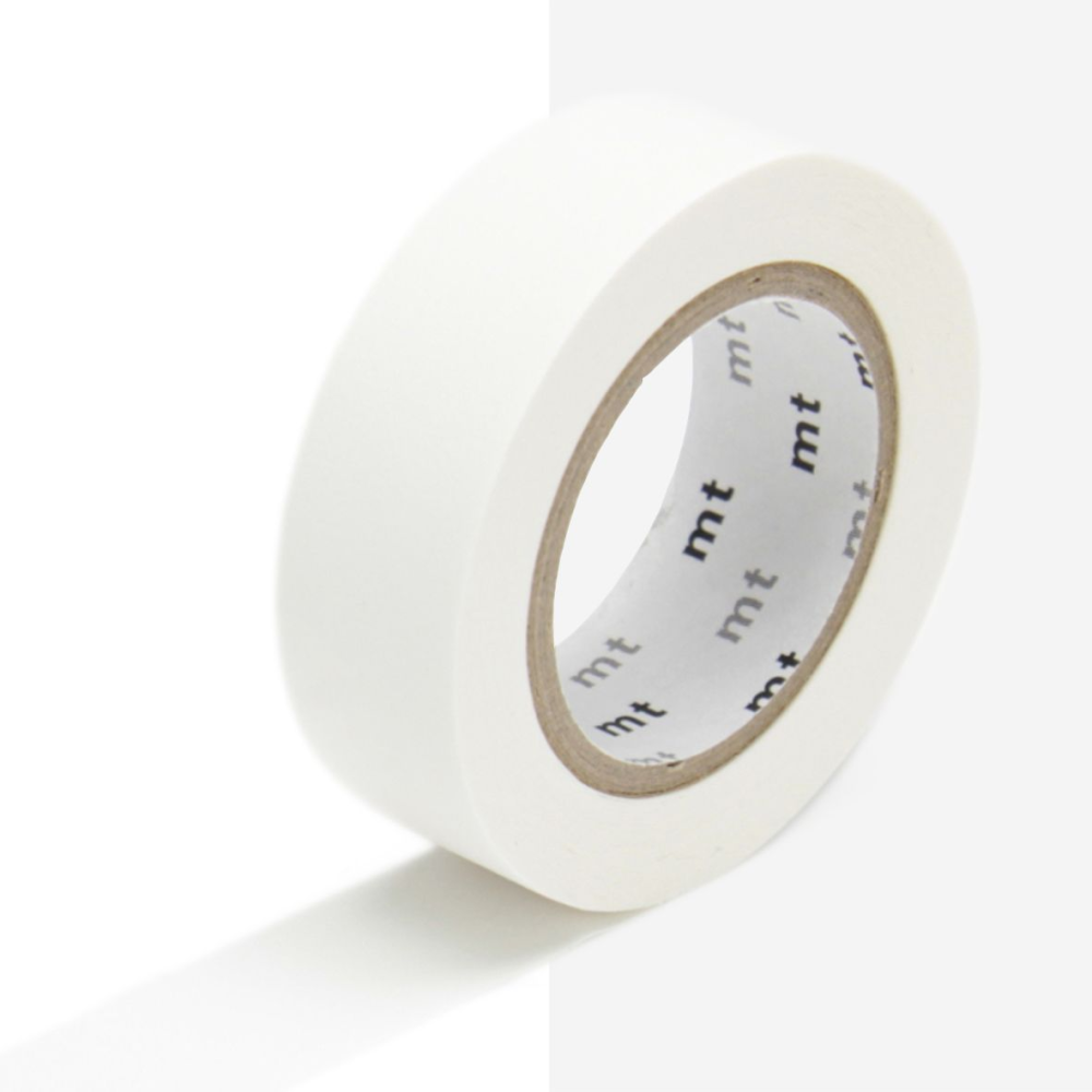 MT Matt White Washi Tape