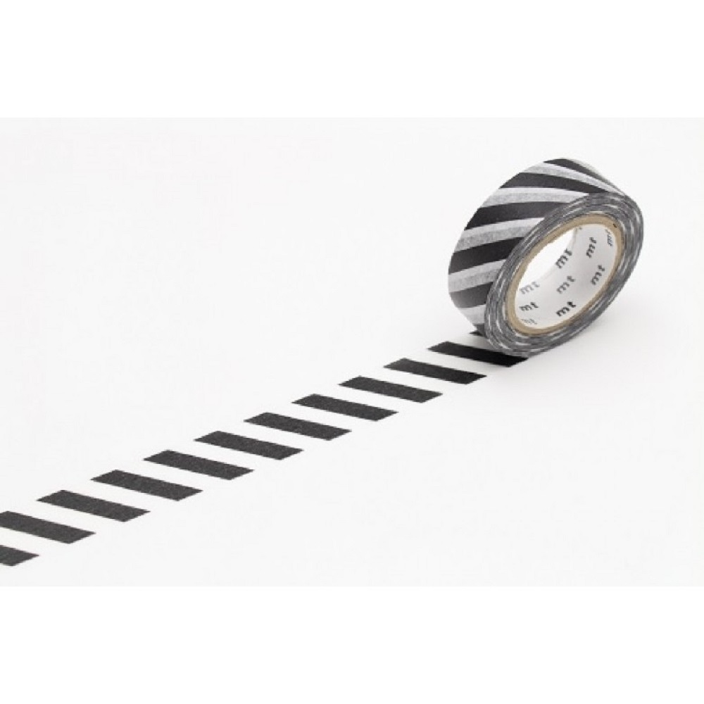 MT Stripe Black 2 Washi Tape
