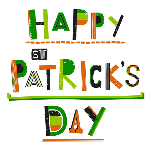 St Patricks Day Glittery Greeting Card