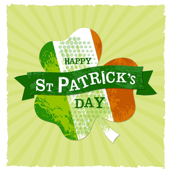 St Patricks Day Leaf Greeting Card