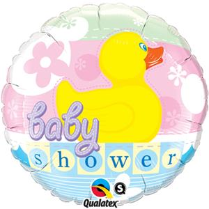 Baby Shower Rubber Duckie Foil 18 Balloon Balloons