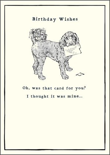 Dog with Letter Greeting Card