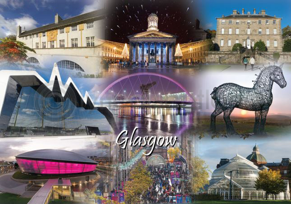 Glasgow Fusion Postcard Greeting Card