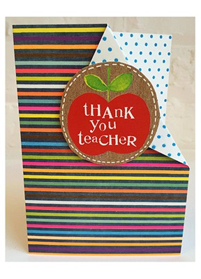 Thank You Teacher Apple Greeting Card