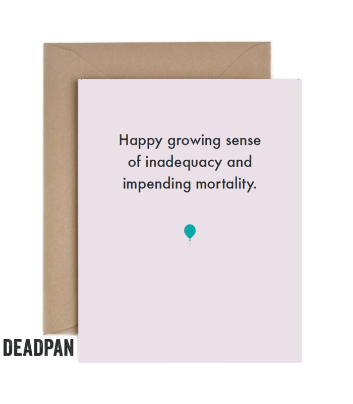 Growing Sense Of Inadequacy Greeting Card