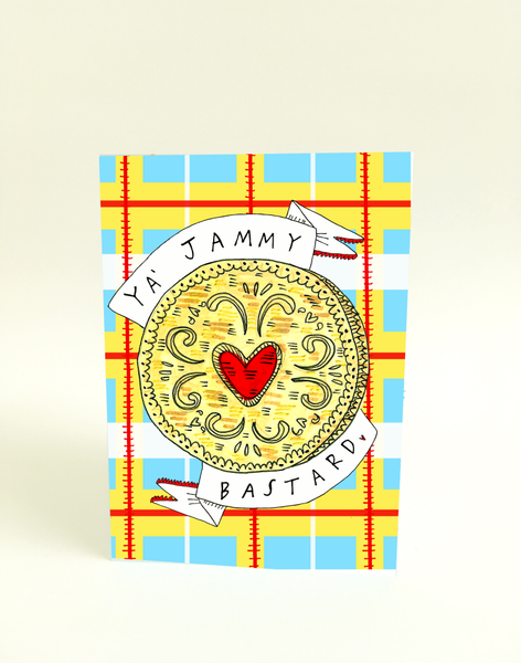 Ya Jammy Bastard Greeting Card