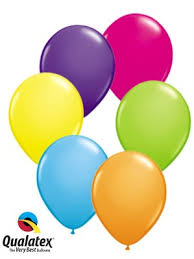 Assorted Colour Balloons 11 Latex 6 Pack Balloons