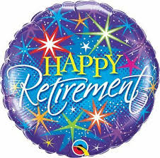 Retirement Colourful Bursts Foil 28 Balloon Balloons