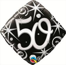 50th Elegant Sparkles & Swirls 18 Balloon Balloons
