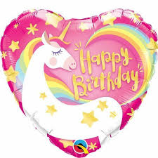 Birthday Magical Unicorn Heart 18 Balloon Balloons