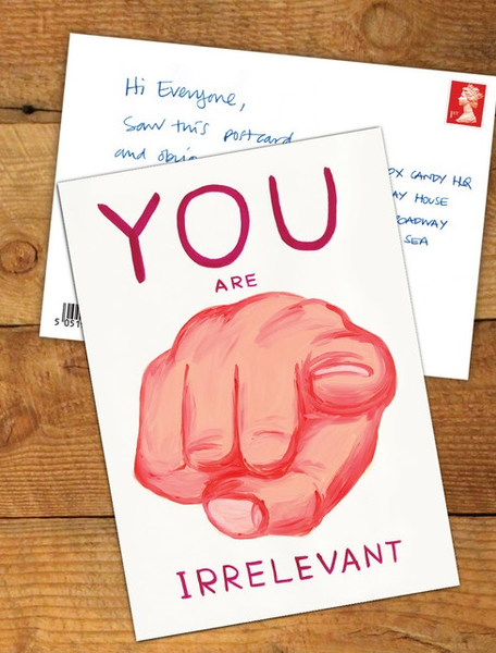 You Are Irrelevant Postcard Greeting Card