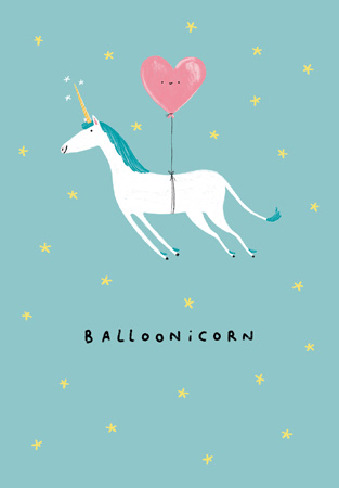 Happy Birthday Balloonicorn Greeting Card