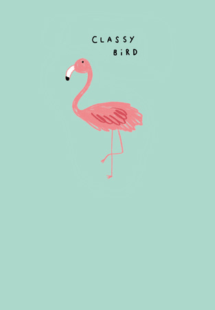 Happy Birthday Classy Bird Greeting Card