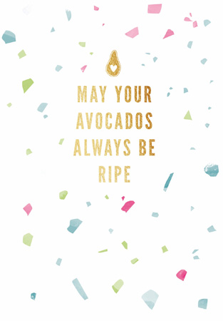 Happy Birthday Ripe Avocados Greeting Card