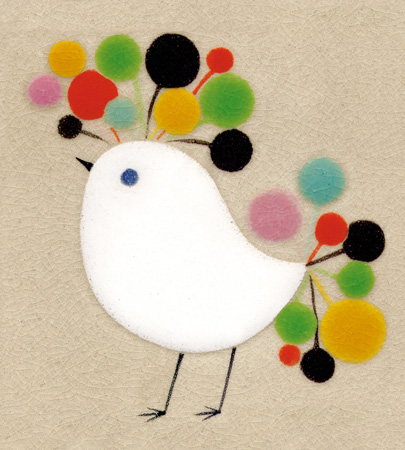 Showtime Bird Greeting Card