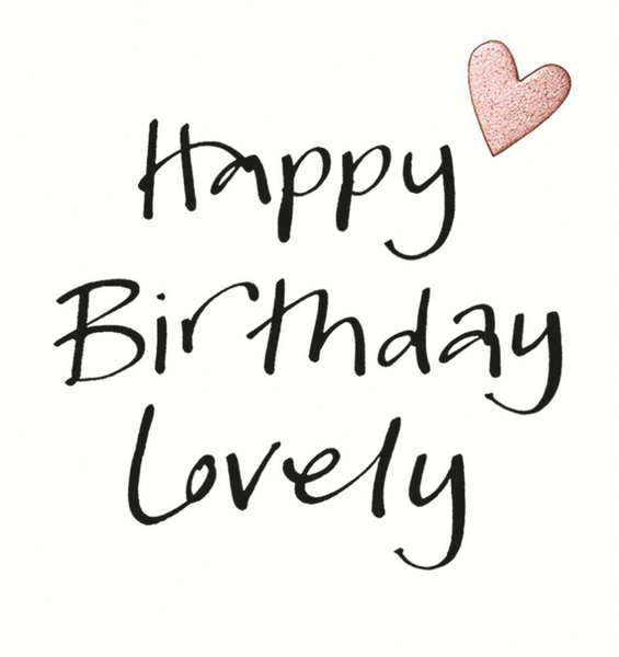 Happy Birthday Lovely Heart Greeting Card