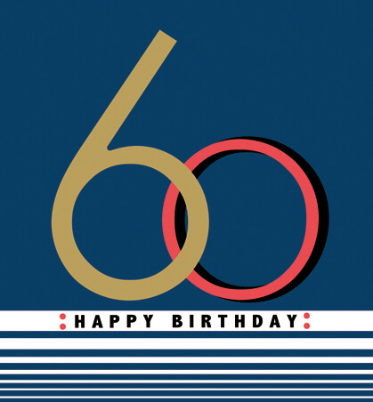 Happy Birthday 60 Greeting Card