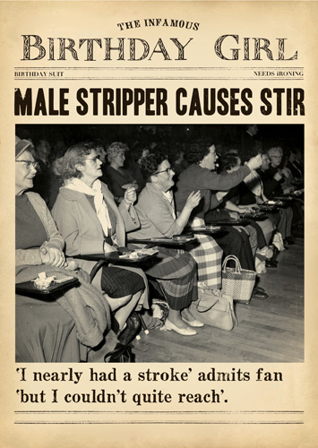 Male Stripper Greeting Card