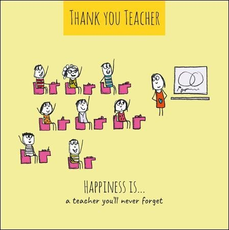 HI Thank You Teacher Greeting Card