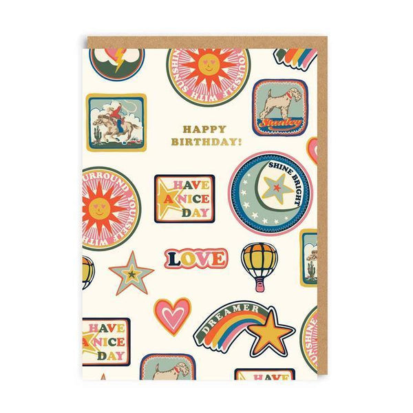 Vintage Patches Cath Kidston Birthday Card | Penny Black