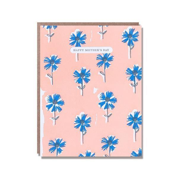Blue Wall Flowers Mother's Day Card | Penny Black