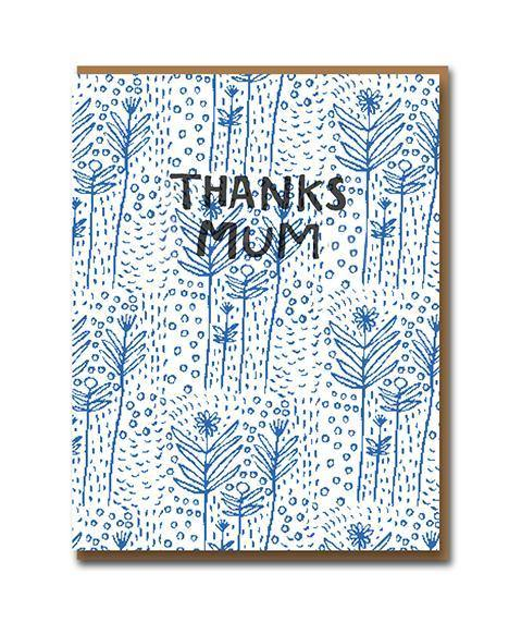 Thanks Mum Folk Floral Mother's Day Card | Penny Black