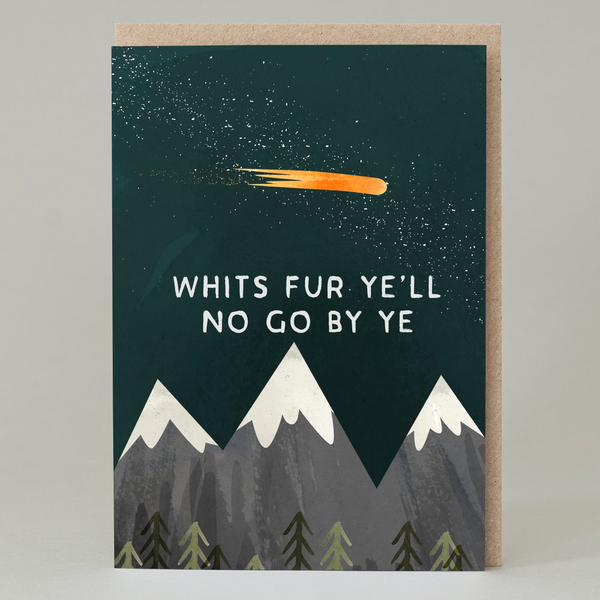Whits Fur Yell No Go By Ye Greeting Card
