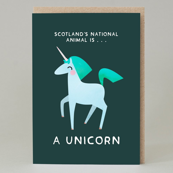 ScotlanNational Animal Unicorn Greeting Card
