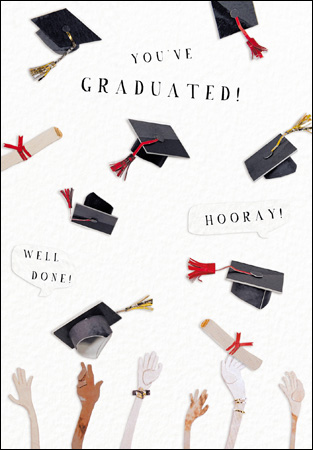 Youve Graduated Mortar Boards Greeting Card