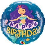 Happy Birthday Mermaid 18 Foil Balloon Balloons