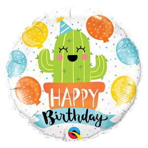 Happy Birthday Cactus 18 Foil Balloon Balloons
