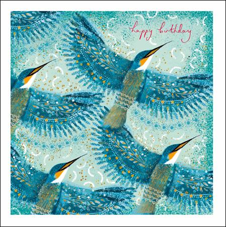 Happy Birthday Kingfishers Greeting Card
