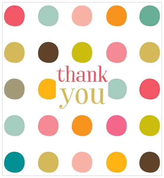 Thank You Spots Greeting Card
